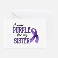 Wear Purple - Sister Greeting Card