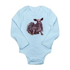 flying piggie lng slv infant bodysuit