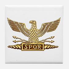 Gold Legion Eagle Tile Coaster
