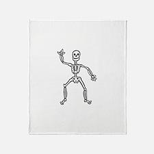 ILY Skeleton Throw Blanket