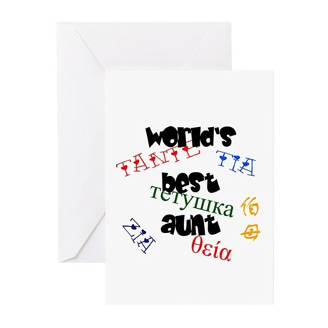 World's Best Aunt Greeting Cards (Pk of 10)