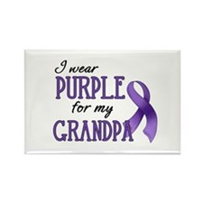 Wear Purple - Grandpa Rectangle Magnet
