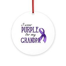 Wear Purple - Grandpa Ornament (Round)