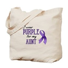 Wear Purple - Aunt Tote Bag