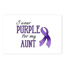 Wear Purple - Aunt Postcards (Package of 8)