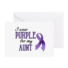 Wear Purple - Aunt Greeting Card
