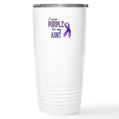 Wear Purple - Aunt Stainless Steel Travel Mug