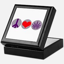 Peace Love Purple Leaf Keepsake Box