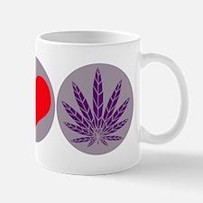 Peace Love Purple Leaf Mug