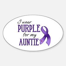 Wear Purple - Auntie Sticker (Oval)