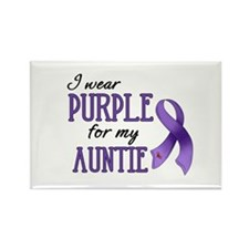 Wear Purple - Auntie Rectangle Magnet