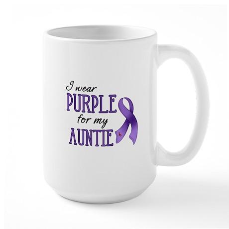 Wear Purple - Auntie Large Mug