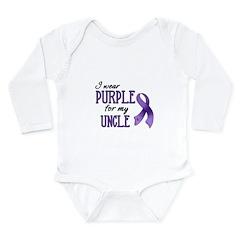 Wear Purple - Uncle Long Sleeve Infant Bodysuit