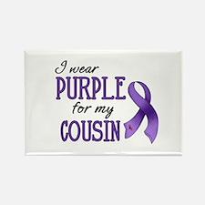 Wear Purple - Cousin Rectangle Magnet