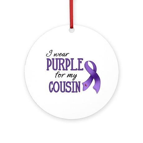 Wear Purple - Cousin Ornament (Round)