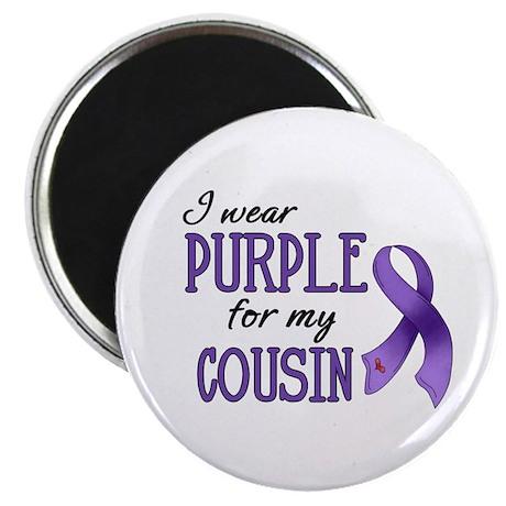 "Wear Purple - Cousin 2.25"" Magnet (10 pack)"