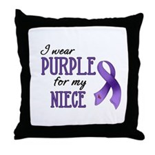 Wear Purple - Niece Throw Pillow
