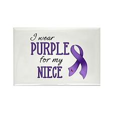 Wear Purple - Niece Rectangle Magnet