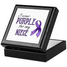 Wear Purple - Niece Keepsake Box
