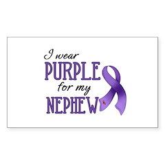 Wear Purple - Nephew Sticker (Rectangle)