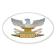 Chrome Roman Eagle Decal