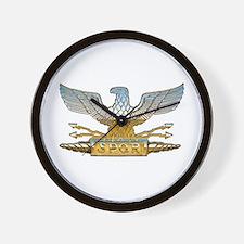 Chrome Roman Eagle Wall Clock