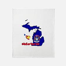 ILY Michigan Throw Blanket
