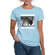Gray Wolf Predator Photo Women's Pink T-Shirt