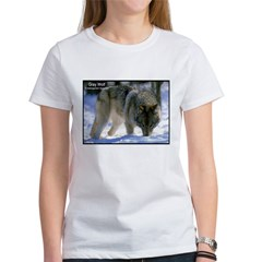 Gray Wolf Predator Photo (Front) Tee
