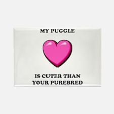 Puggle Cuter Rectangle Magnet