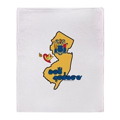 ILY New Jersey Throw Blanket