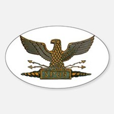 Roman Eagle in Copper Sticker (Oval)