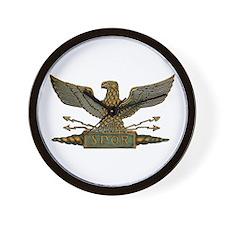 Roman Eagle in Copper Wall Clock