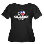 I Love Chilean Boys Women's Plus Size Scoop Neck D