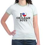 I Love Chilean Boys Jr. Ringer T-Shirt