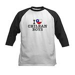 I Love Chilean Boys Kids Baseball Jersey