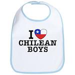 I Love Chilean Boys Bib