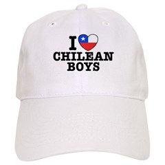 I Love Chilean Boys Baseball Cap