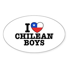 I Love Chilean Boys Decal