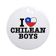I Love Chilean Boys Ornament (Round)