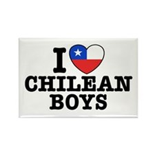 I Love Chilean Boys Rectangle Magnet