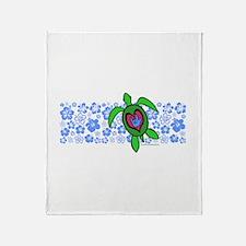 ILY Hawaii Turtle Throw Blanket