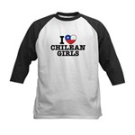 I Love Chilean Girls Kids Baseball Jersey