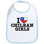 I Love Chilean Girls Bib