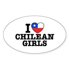 I Love Chilean Girls Decal