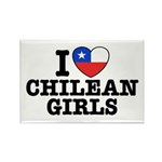 I Love Chilean Girls Rectangle Magnet