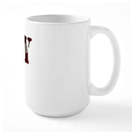 Navy Wife Flag Large Mug
