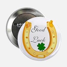 """Good Luck Horseshoe 2.25"""" Button"""