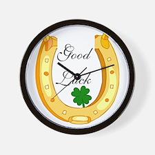 Good Luck Horseshoe Wall Clock