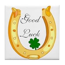 Good Luck Horseshoe Tile Coaster